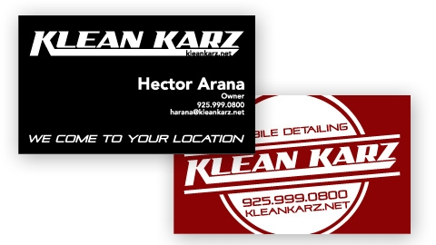 Klean Karz Business Card